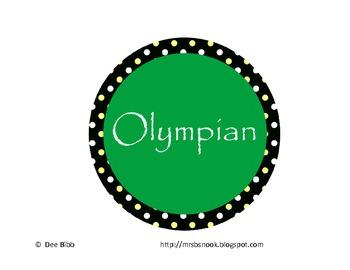 Reading Olympics Tracker