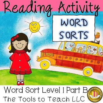Reading On Word Sort Level 1 Part B