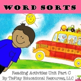 Word Sort Level 1 Part C  Reading Worksheet Activity Unit
