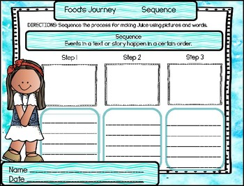 Reading Graphic Organizers: First Grade Reading Wonders (U3 W5)