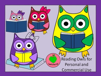 Reading Owls Graphics for Commercial and Personal Use