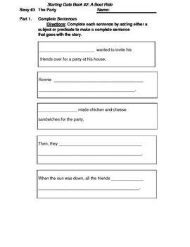Reading Packet 3 Starting Gate book A Boat Ride