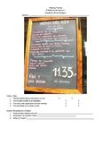 Reading Packet for Spanish 1 Restaurant