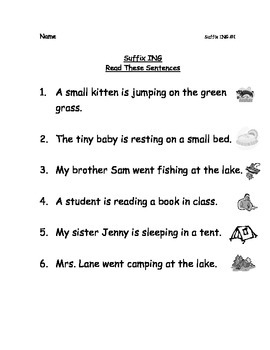 Reading Packets: 35-38 Schwa with Vowel A and Common Suffixes ING, ED, and ER