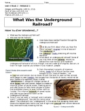 Reading Paired Text-The Underground Railroad and Mystery Text