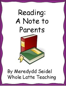 Reading Parent Letter-5th Grade
