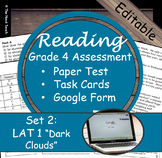 Reading Part A Part B Test, Task Cards LAT 1- Literary & Poetry