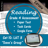 Reading Part A Part B Test, Task Cards LAT 3- Literary & Poetry