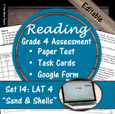Reading Part A Part B Test, Task Cards LAT 4- Literary