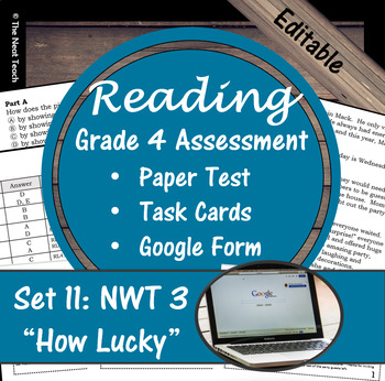 Reading Part A Part B Test, Task Cards NWT 3- Literary & Informational
