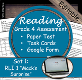 Reading Part A Part B Test, Task Cards RLI 1- Literary & Informational