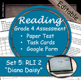 Reading Part A Part B Test, Task Cards RLI 2- Literary & Informational