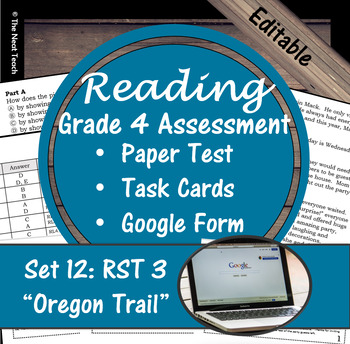 Reading Part A Part B Test, Task Cards RST 3- Informational