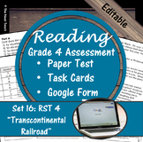Reading Part A Part B Test, Task Cards RST 4- Informational