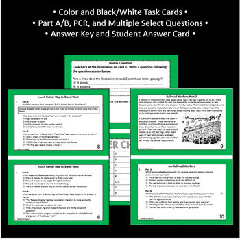 Reading Part A Part B Test and Task Cards RST 4