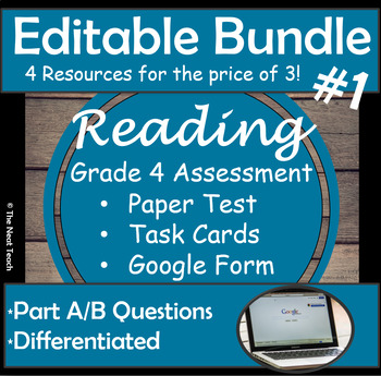 Reading Part A Part B Tests and Task Cards- BUNDLE 1