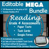 Reading Part A B Tests Task Cards- MEGA BUNDLE (Includes 5 Bundles)