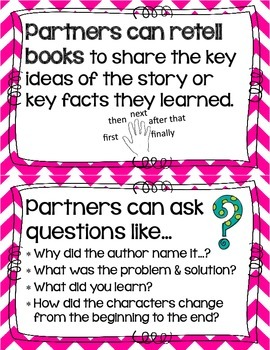 Reading Partner Anchor Chart Cards