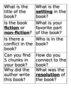 Reading Partner Questions