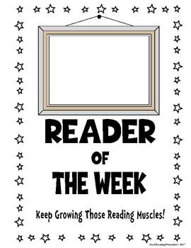 Reading/ Partner Reading-Reader of the Week Award