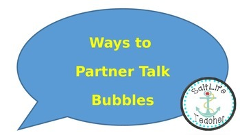 Reading Partner Talk Bubble Stem Questions