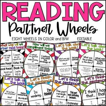 Reading Partner Wheel - Editable!