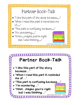 Reading Partners Book-Talk Cards