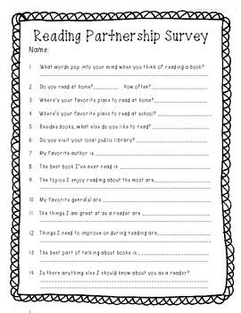 Reading Partnership Survey