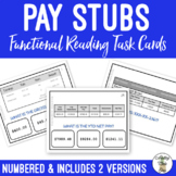Reading Pay Stubs Task Cards