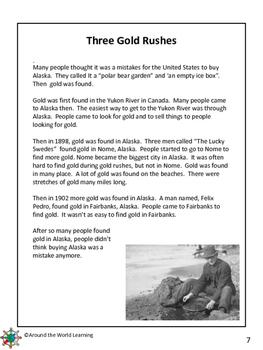 Reading Passage: Alaska Gold Rushes