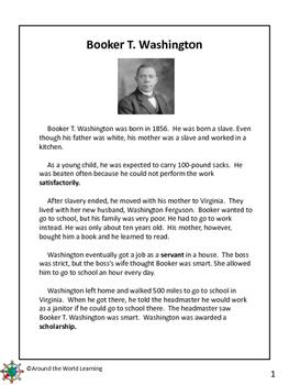 Reading Passage: Booker T. Washington