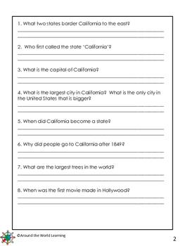 Reading Passages: California