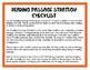 Reading Passage Checklist/Strategies