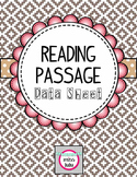Reading Passage Data Sheet