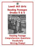 Reading Passage: Lowell Mill Girls - Grades
