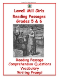 Reading Passage: Lowell Mill Girls - Grades