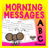 Reading Passage Morning Messages Reading Level Kindergarte