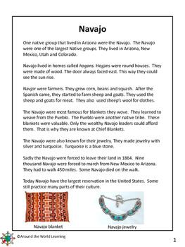 Reading Passage: Navajo