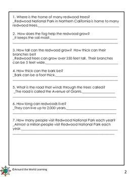 Reading Passage: Redwood Trees