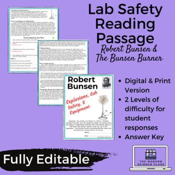 Reading Passage- Robert Bunsen, The Bunsen Burner, & Lab Safety
