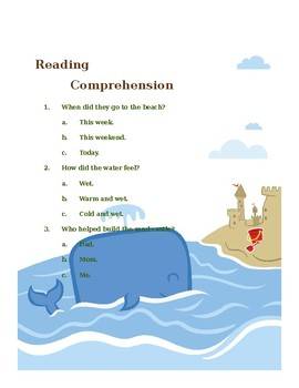 Reading Passage and Comprehension Check with Modified Activity