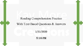 Reading Passage and Comprehension Questions