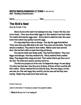 Reading Comprehension Passage and Questions: The Bird's Nest