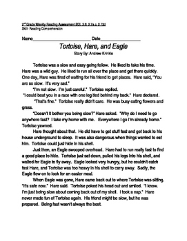 Reading Comprehension Passage and Questions: Tortoise, Hare and Eagle