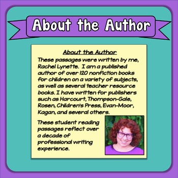 Reading Passage of the Day Comprehension Practice with Google Slide Option Set 2