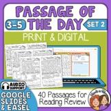 Daily Reading Comprehension Passages plus Google Classroom Option Set 2