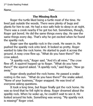 Reading Comprehension Passage and Questions: The Missing Rock