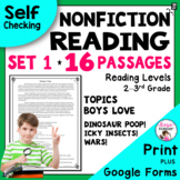 Reading Comprehension Passages and Questions - Nonfiction - 2nd and 3rd Grade