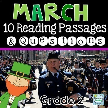 Year Long Reading Comprehension Passages 2nd Grade / 3rd Grade