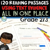 Year Long Reading Comprehension Passages 2nd Grade / 3rd Grade Bundle